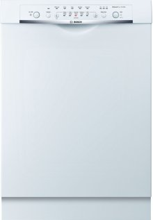 "24"" DLX Recessed Handle Dishwasher Ascenta- White SHE3ARL2UC"