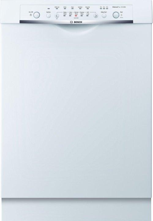"24"" DLX Recessed Handle Dishwasher Ascenta- White SHE3ARL2UC"