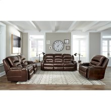 Triple Power Console Loveseat w/Wand / Storage / Lights / Slotted QI Charging / Lighted Cupholders / Dual Arm Storage
