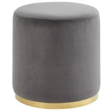 Sonata Round Ottoman in Grey and Gold