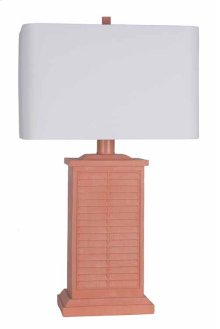 Coral Shutter Table Lamp