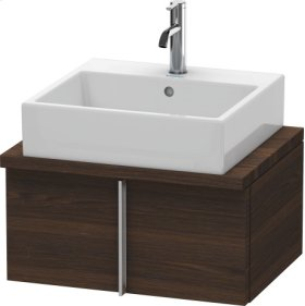 Vero Vanity Unit For Console Compact, Brushed Walnut (real Wood Veneer)