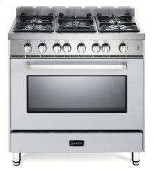 "White 36"" Gas Single Oven Range - 'N' Series"