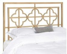 LUCINDA ANTIQUE GOLD METAL HEADBOARD - Antique Gold