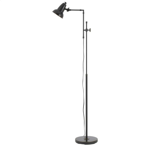 60W Hudson Metal Adjust able Floor Lamp With Metal Shade