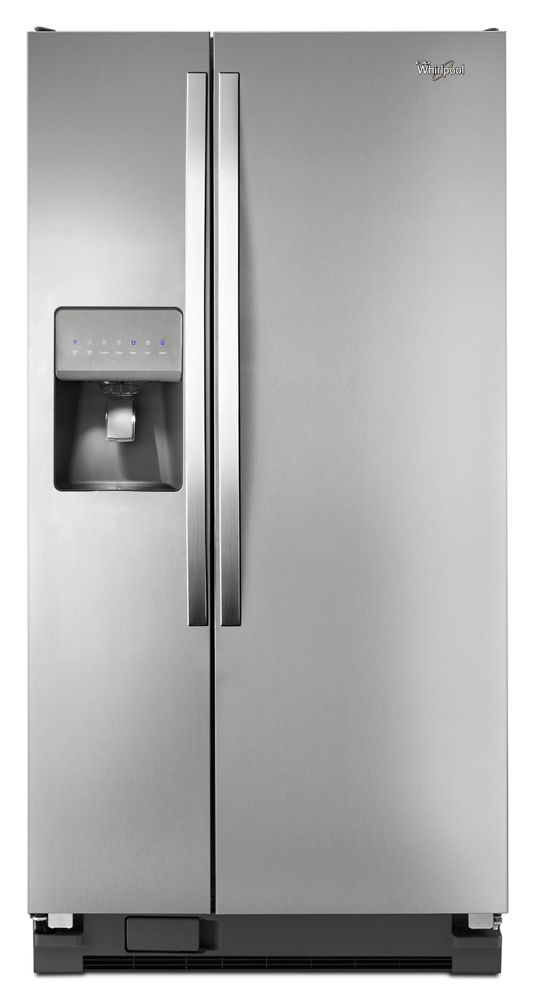 33-inch Wide Side-by-Side Refrigerator with LED Lighting - 21 cu & WRS322FDAM in Monochromatic Stainless Steel by Whirlpool in Flanders ...