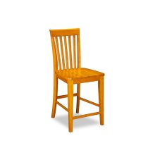 Mission Pub Chairs Set of 2 with Wood Seat in Caramel Latte