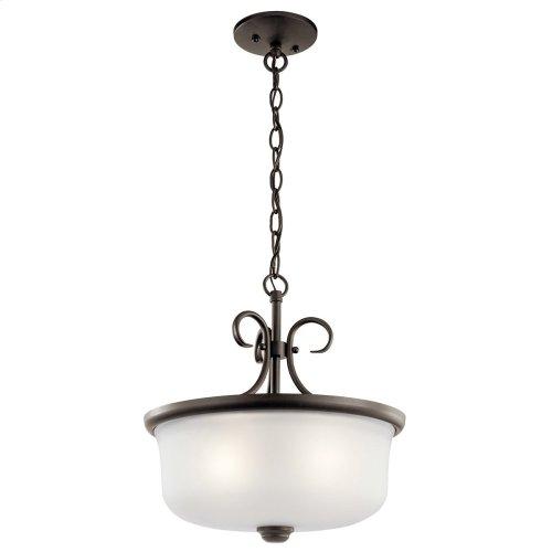 Bixler 2 Light Convertible Pendant with LED Bulbs Olde Bronze®