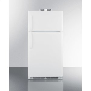 Summit15 CU.FT. Break Room Refrigerator-freezer In White With Nist Calibrated Alarm/thermometers