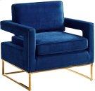 """Noah Velvet Accent Chair - 33.5"""" W x 29.5"""" D x 35.5"""" H Product Image"""