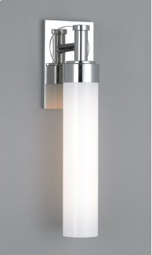 FLUORESCENT CIRC SINGLE SCONCE - BRUSHED NICKEL