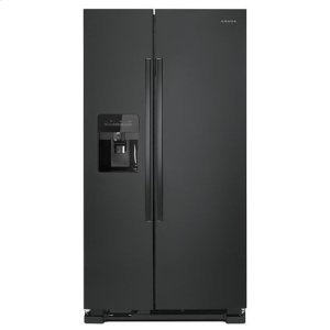 36-inch Side-by-Side Refrigerator with Dual Pad External Ice and Water Dispenser - black - BLACK