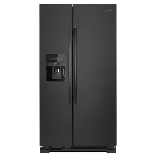36-inch Side-by-Side Refrigerator with Dual Pad External Ice and Water Dispenser - black