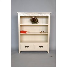 """#483 2 Drawer Bookcase 40""""wx13""""dx50""""h"""