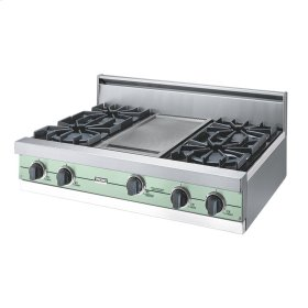 "Sage 36"" Open Burner Rangetop - VGRT (36"" wide, four burners 12"" wide griddle/simmer plate)"