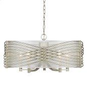 Zara 5 Light Chandelier in White Gold