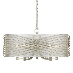 Zara 5 Light Chandelier in White Gold