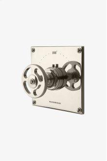 R.W. Atlas Thermostatic Control Valve Trim with Metal Wheel Handle STYLE: RWTH01