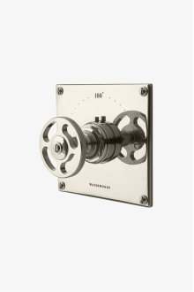 R.W. Atlas Thermostatic Control Valve Trim with Metal Wheel Handle STYLE: RWTH01