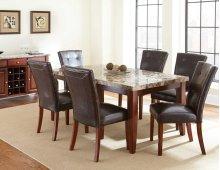 """Montibello Parsons Chair, Dark Brown, 21"""" x 29"""" x 39"""""""