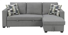 Emerald Home Langley Lsf Chaise With 1 Accent Pillow-brown-u4339-11-19