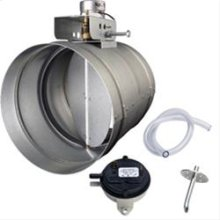 "8"" Universal Automatic Make-Up Air Damper with Pressure Sensor Kit"