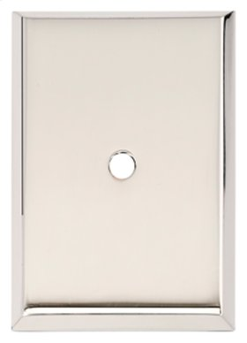 Traditional Backplate A610-14 - Polished Nickel