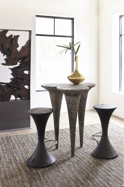 Butterfly Bar Table, Grey Stone