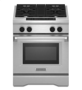 KitchenAid® 30-Inch 4-Burner Dual Fuel Freestanding Range, Commercial-Style - Stainless Steel