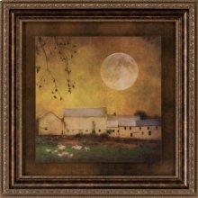 Sheep Under A Harvest Moon