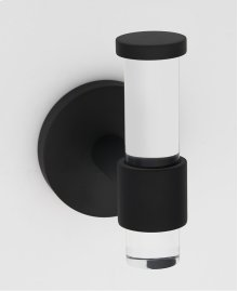 Acrylic Contemporary Robe Hook A7281 - Matte Black