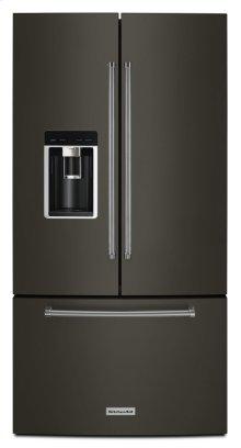 "23.8 cu. ft. 36"" Counter-Depth French Door Platinum Interior Refrigerator with PrintShield Finish - Black Stainless"