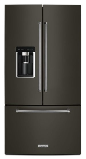 "23.8 cu. ft. 36"" Counter-Depth French Door Platinum Interior Refrigerator with PrintShield Finish - Black Stainless Product Image"