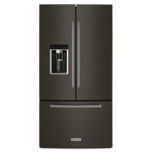 "23.8 cu. ft. 36"" Counter-Depth French Door Platinum Interior Refrigerator with PrintShield Finish - Black Stainless Steel with PrintShield™ Finish"