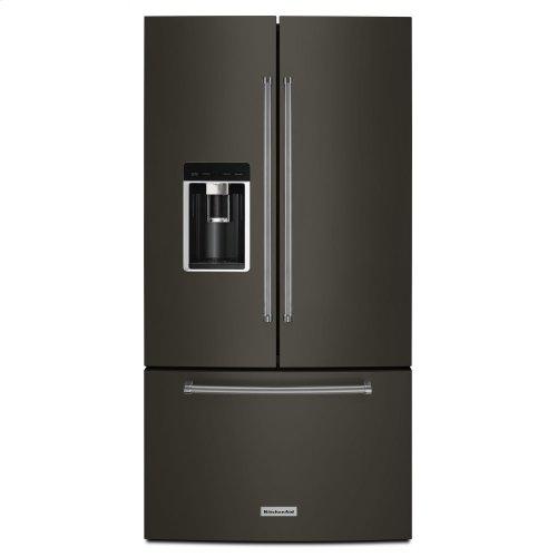 "23.8 cu. ft. 36"" Counter-Depth French Door Platinum Interior Refrigerator with PrintShield Finish - Black Stainless Steel with PrintShield™ Finish"