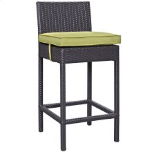 Convene Outdoor Patio Upholstered Fabric Bar Stool in Espresso Peridot