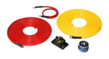 Premium 6 AWG 12V Power Marine Connection Kit, Single Amplifier, Within 20 ft of Battery