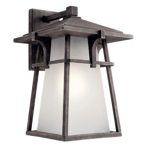 "Beckett 18"" 1 Light Wall Light with LED Bulb Weathered Zinc"