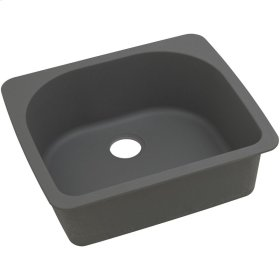 "Elkay Quartz Classic 25"" x 22"" x 8-1/2"", Single Bowl Top Mount Sink, Dusk Gray"