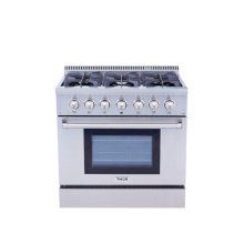 36 Inch Professional Dual Fuel Range In Stainless Steel