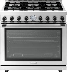 "Range NEXT 36"" Panorama Stainless steel 6 gas, gas oven"