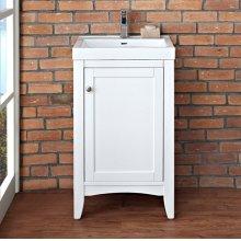 """Shaker Americana 21x18"""" Vanity - Polar White"""