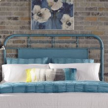 Queen Metal Headboard - Blue