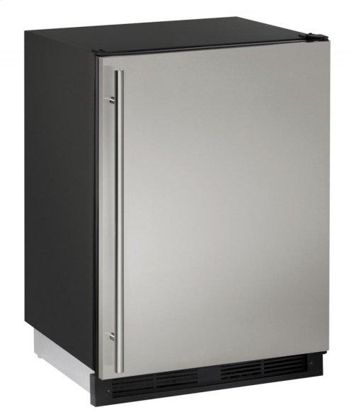 "24"" Solid Door Refrigerator Stainless Solid Field Reversible"