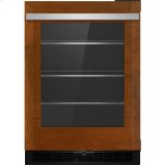 "JENNAIR CANADAPanel-Ready 24"" Under Counter Glass Door Refrigerator, Left Swing, Stainless Steel"