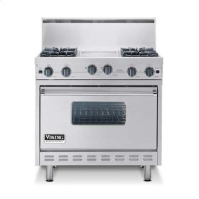 "Cotton White 36"" Sealed Burner Range - VGIC (36"" wide range with four burners, 12"" wide char-grill, single oven)"