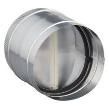 "8"" Round Inline Damper for Range Hoods and Bath Ventilation Fans"