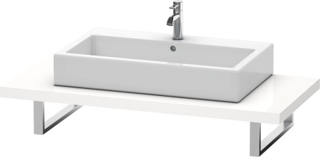 Console For Above-counter Basin And Vanity Basin, White High Gloss Lacquer