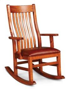 Urbandale II Arm Rocker with Cushion Seat, Leather Cushion Seat