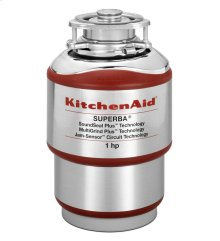 KitchenAid 1-Horsepower Continuous Feed Food Waste Disposer - Red